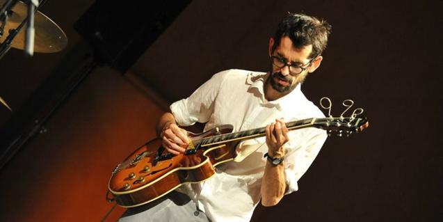 Jaume Llombart, un dels primers a pujar a l'escenari del Jazzing