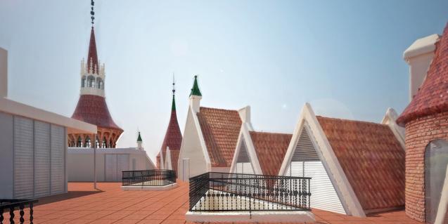 The rooftop terrace at Casa de les Punxes