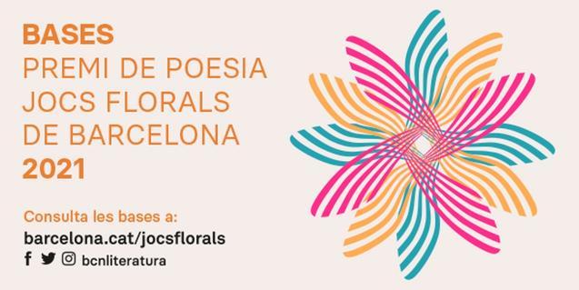 Cartell de la convocatòria dels Jocs Florals de Barcelona 2021