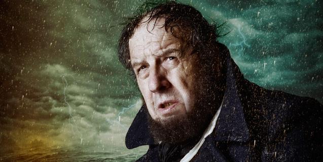 L'actor Josep Maria Pou és el capità Ahab al Teatre Goya