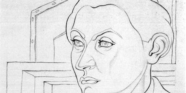 Retrat del marxant Daniel-Henry Kahnweiler fet pel pintor Juan Gris