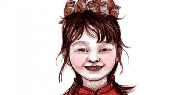Il·lustració del llibre il·lustrat La nena dels pardals