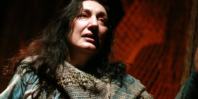 L'actriu Olga Vinyals Martori a 'Lampedusa Beach'