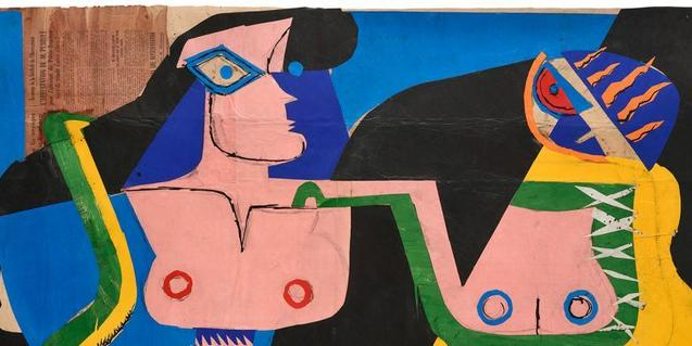 Collage de l'any 1961 de Le Corbusier present a la mostra