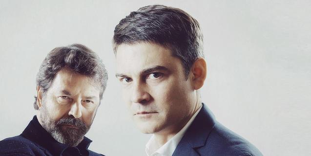 Abel Folk y Roger Coma, intérpretes de la obra