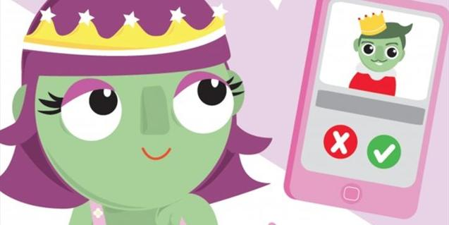 La princesa ha de fer un 'like' al príncep.