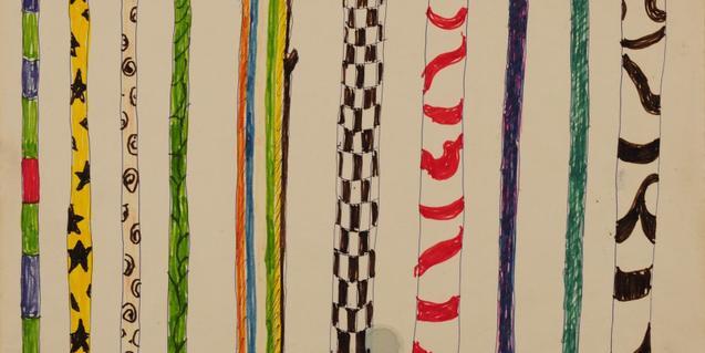 Un dels dibuixos de Lina Bo Bardi presents a l'exposició