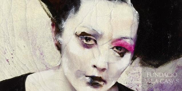 Una de les obres de Lita Cabellut de l'exposició