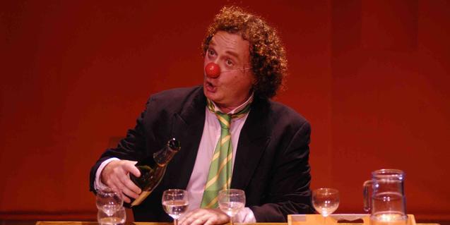 El clown Gabriel Chamé en un moment de l'espectacle