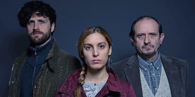 D'esquerra a dreta, Roger Batalla, Paula Sunyer i Ramon Vila