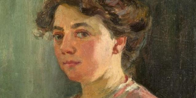 Autorretrato de la pintora Lluïsa Vidal