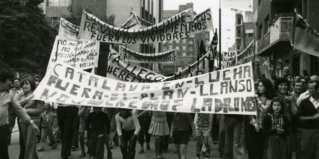 Una manifestació de l'any 1977