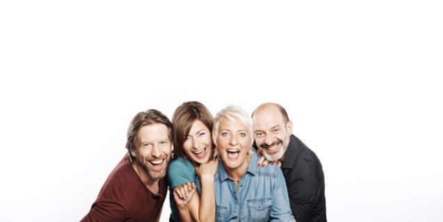 Els quatre intèrprets de 'Los vecinos de arriba'