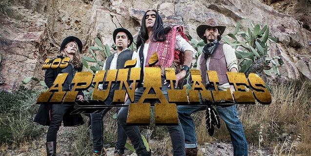 Retrato de grupo de esta banda de rock que suena a western italiano