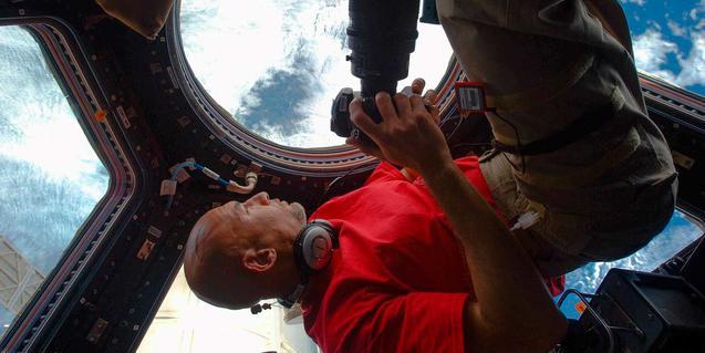 Imatge de Luca Parmitano a l'Estació Espacial Internacional