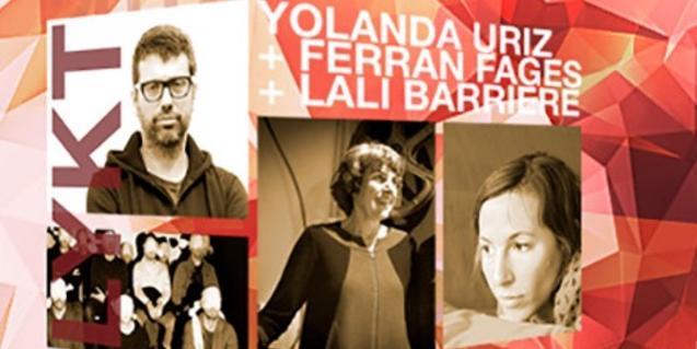 El cartel que anuncia la activitat y que incluye imágenes de los tres artistas implicados