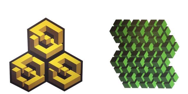 Dos de las obras de Manuel Faura que se pueden ver en la exposición