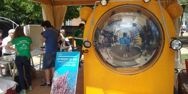 Imatge del submarí del taller El Mar a Fons