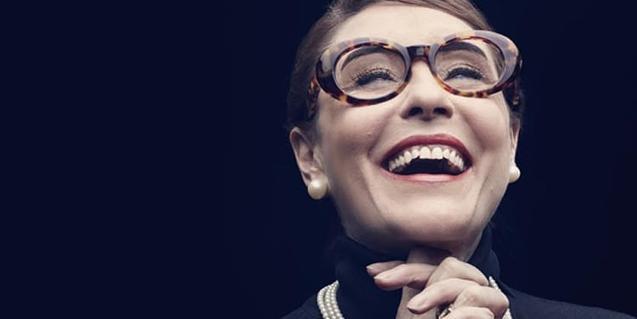 María Bayo caracterizada como Maria Callas