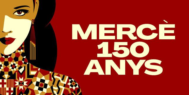 Cartell d'enguany de la Mercè que mostra la patrona de Barcelona com una reina poderosa