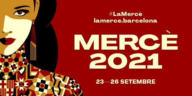 El cartel de la Mercè de este año retrata a la patrona como una reina mediterránea bella y poderosa
