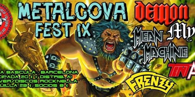 El cartel de la edición de este año del festival Metalcova