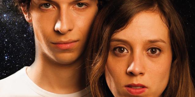 Els dos protagonistes d'una de les peces que es representen al Microteatre