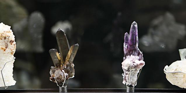 Imagen de minerales en una vitrina