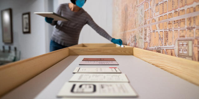 Preparativos de la exposición a la Fundació Miró