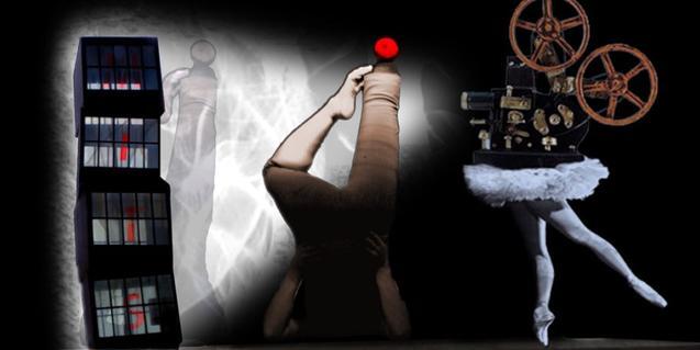 Un fragmento del cartel del festival de este año con imágenes alusivas a la danza, el vídeo y el barrio de la Barceloneta