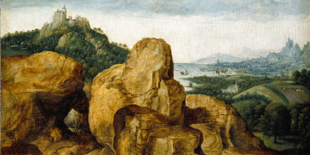 Landscape with the Flight to Egypt by Metsys