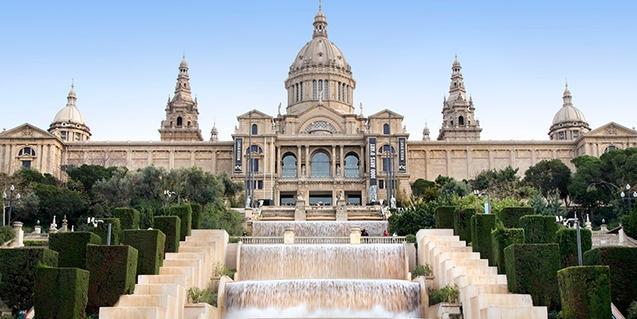 Façana del Museu Nacional d'Art de Catalunya, un dels que participen en el concurs
