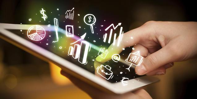 Navegando por internet en una tablet