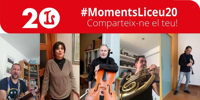 Poster of the #MomentsLiceu20 campaign
