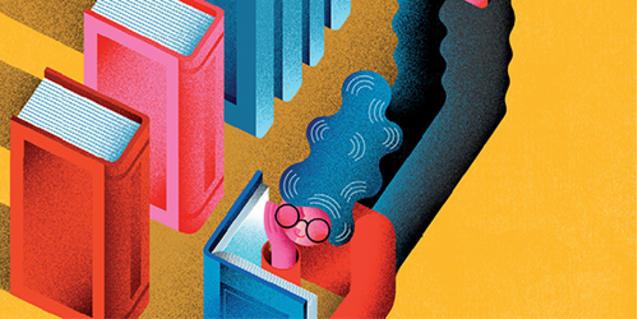 Cartell d'aquesta edició de Món Llibre, il·lustració de Maria Corte