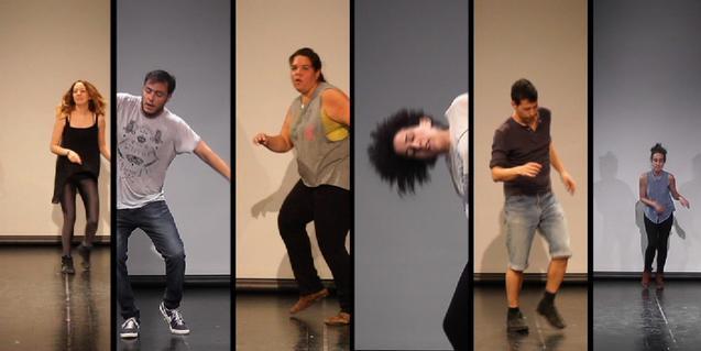 Algunos de los treinta voluntarios que fueron filmados bailando en solitario