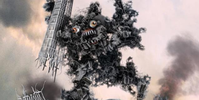 Una de las pinturas de monstruos japoneses que forman parte de la exposición