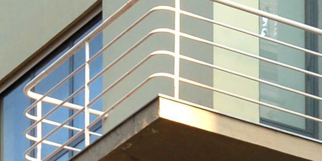 Detalle de un edificio del arquitecto Sert que se visita en el recorrido