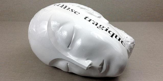 'Muse Tragique', una de les escultures de Juanpere que s'exposen
