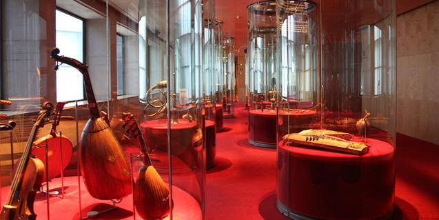 Vitrinas del museo