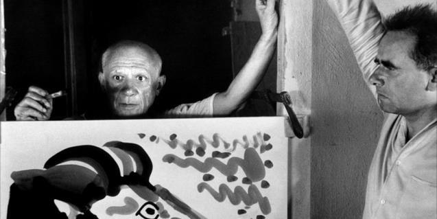 'Le Mystère Picasso' va ser rodat a l'estudi del pintor l'any 1955