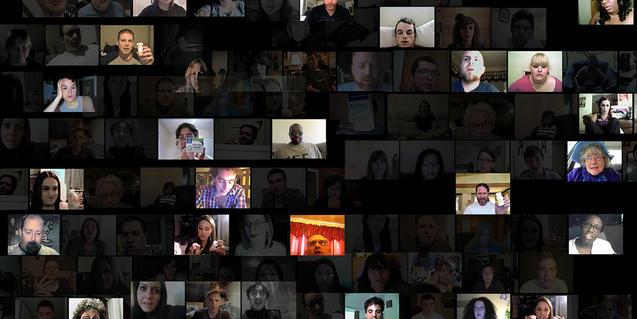 Un collage con imágenes de videobloggers de YouTube