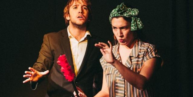 Fotografia de l'espectacle amb els dos artistes