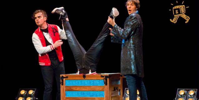 Fotografía de uno de los trucos del espectáculo