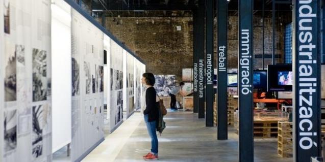 Vista de l'interior de l'antigua fábrica Oliva-Artés, avui convertida en un espai expositiu