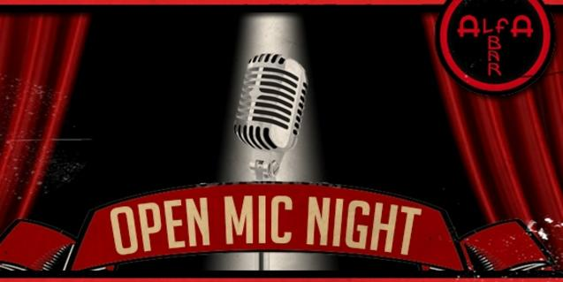 Cartell de l'Open Mic Night