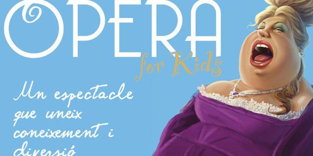 Cartel del espectáculo dónde se ve la ilustración de una cantante de ópera