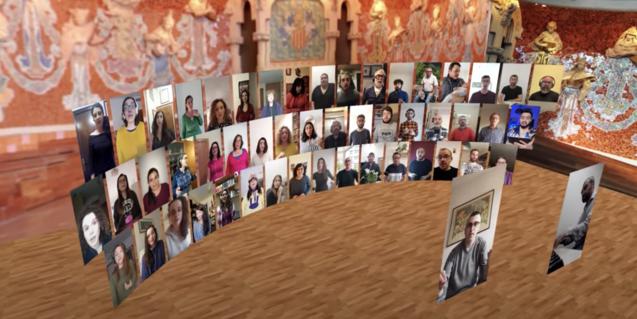 El Orfeó Català se encuentra virtualmente para ofrecer dos piezas que comparten en YouTube