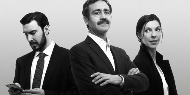 Los tres intérpretes de 'Othello'