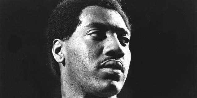 Retrato en blanco y negro de primer plano del músico conocido como rey del soul
